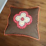 Úžitkový textil - Vankúš štvorlístky v štvorlístku - 12290899_