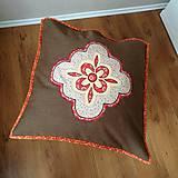 Úžitkový textil - Vankúš štvorlístok kompas - 12290911_