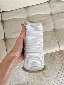 Galantéria - Gumka na rúška biela 3.2mm, 0,20€/meter - 12290361_
