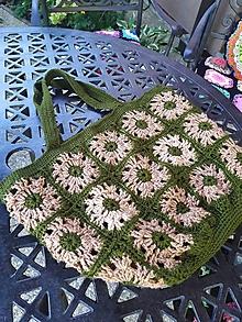 Veľké tašky - Háčkovaná taška - 12288688_