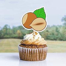 Dekorácie - Detský minimalizmus - zápich na muffin (lieskový oriešok) - 12291718_