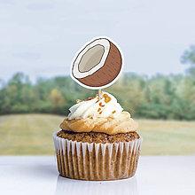 Dekorácie - Detský minimalizmus - zápich na muffin (kokos) - 12291750_