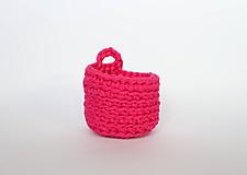 Košíky - drobec ružový - 12292891_