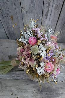 Dekorácie - Kytica zo sušených kvetov - 12292403_