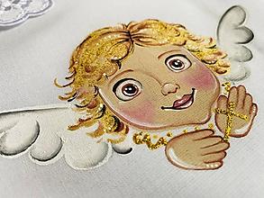 Detské oblečenie - Anjelik- košieľka ku krstu - 12292267_