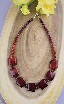 Náhrdelníky - jaspis náhrdelník - jaspis mokait - 12295972_