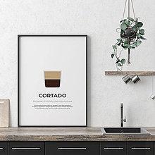Grafika - CORTADO, minimalistický print biely - 12295628_