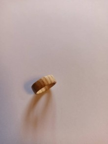 Prstene - Drevený prsteň jaseň - 12294845_