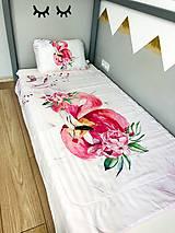 Textil - Prehoz na posteľ pelikan - 12294063_