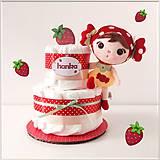 Detské doplnky - MINI tortička JAHÔDKA - 12292789_