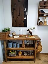 - Konzolový stôl s poličkami - 12295044_