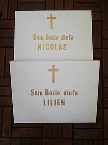 Detské doplnky - Krabička na košieľku a sviečku - BIELA - 12295989_