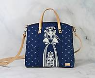 Kabelky - modrotlačová kabelka Nora natur 10 - 12294399_