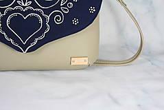 Kabelky - Modrotlačová kabelka Petra béžová 4 AM - 12294503_