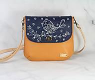 Kabelky - Modrotlačová kožená kabelka Ria AM 1 - 12294538_