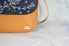 Kabelky - Modrotlačová kožená kabelka Ria AM 1 - 12294541_