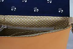Kabelky - Modrotlačová kožená kabelka Ria AM 1 - 12294542_