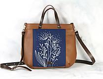 Kabelky - Modrotlačová kožená kabelka Rita AM 1 - 12294630_