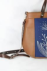 Kabelky - Modrotlačová kožená kabelka Rita AM 1 - 12294631_