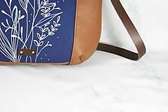 Kabelky - Modrotlačová kožená kabelka Rita AM 1 - 12294632_