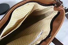 Kabelky - Modrotlačová kožená kabelka Rita AM 1 - 12294635_