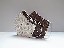 Rúška - Tvatované dvojvrstvové rúška - ON A ONA (hnedá) - 12293576_