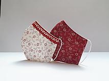 Tvatované dvojvrstvové rúška - ON A ONA (červená)