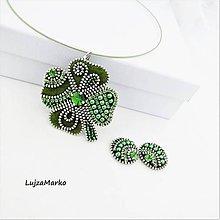 Sady šperkov - Štvorlístok  sada - 12294789_