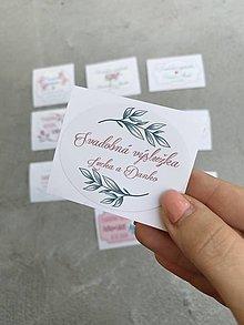 Papiernictvo - Nálepka Svadobná výslužka 10 - 12298080_