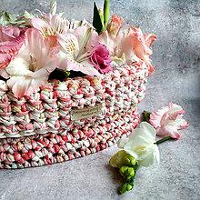 Košíky - Coral Beauty   štýlový háčkovaný košík - 12299433_