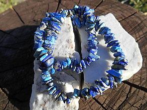 Náramky - blue stone-lapis lazuli-dva v jednom - 12299642_