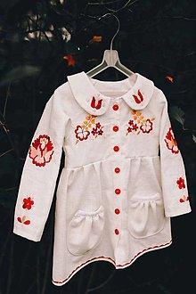 Detské oblečenie - Vyšívaný ľanový kabátik - 12299283_