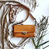 Kabelky - Kožená kabelka MidiMe (hnedo-oranžová) - 12297605_