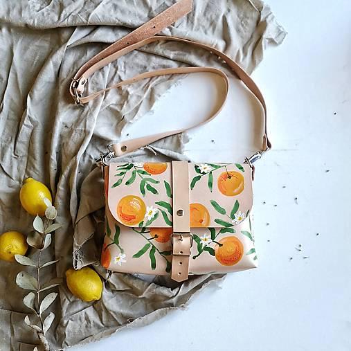Kožená kabelka Hanna (oranges)