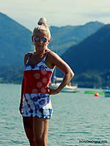 Tričká - Dámske tielko šité, batikované, maľované, etno PINA COLADA - 12297013_