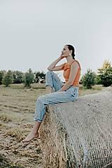 Topy - háčkovaný crop top - 12296873_