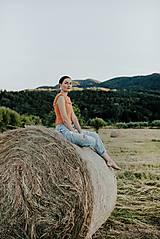 Topy - háčkovaný crop top - 12296876_