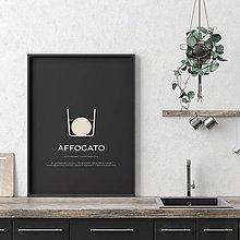 Grafika - AFFOGATO, minimalistický print čierny - 12297236_