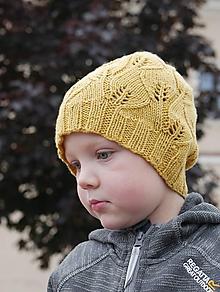 Detské čiapky - Jesenná čiapka LISTY - 12297358_