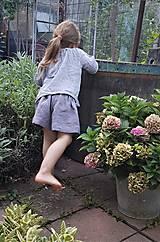 Detské oblečenie - krátke ľanové - 12299090_
