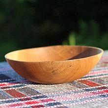 Nádoby - miska z dubového dreva - 12298715_