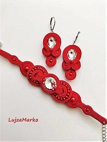 Sady šperkov - Jolana (Červená) - 12299068_