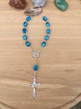 Iné šperky - ruženec do auta so sv. Krištofom - 12298802_