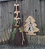 Dekorácie - Dekoračná metla z brezového prútia pre šťastie - 12300665_