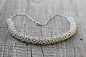 Náhrdelníky - náhrdelník dutinkový polovičný (náhrdelník strieborný) - 12300123_