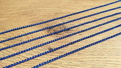 Komponenty - Štrasová borta 2 mm - cena za 10 cm (Modrá) - 12300657_