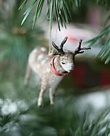 Dekorácie - Hračky na vianocny stromček z vaty - 12300187_