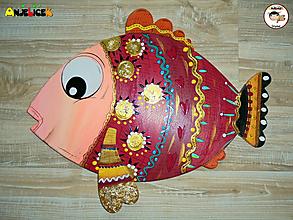 Dekorácie - Dekorácia na zavesenie - rybka - 12301224_