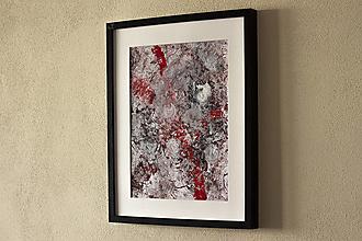 Obrazy - dospievanie krvou II. akryl na výkrese . A3 - 12301815_