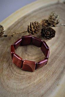 Náramky - náramok z jaspisu široký platničkový - 12303030_